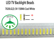 100pcs/lot new led 7020lg(2) 3v 150ma lamp beads cool white for repair lcd tv backlight light bar chip hot