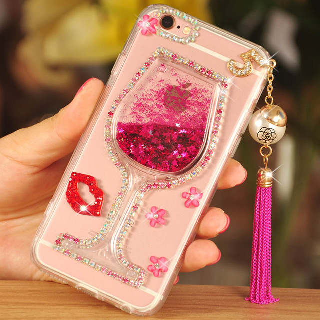 check out 9d181 1639f US $9.99 |Girl Woman Wine Cup+3D Bling Glitter Diamond Quicksand Phone Case  Cover For VIVO Xplay 5 X6/X7/9 X20 V7 Plus/V3 max/Y35/37/51/69-in ...