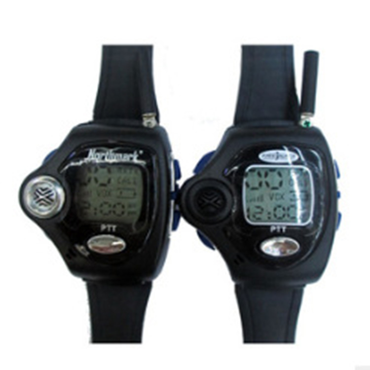 Newest 2pcs Backlit Portable Watch Radio Pair Digital VOX Walkie Talkie Watch For Intercom Interphone Two