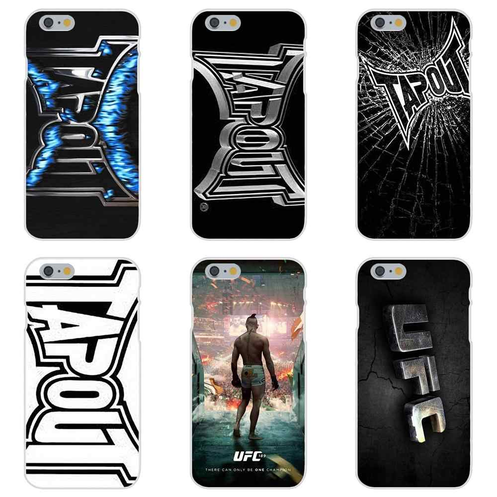 Coloridos Acessórios Do Telefone Caso Chamas Tapout Mma Ufc Para Apple iPhone X XS Max XR 4 4S 5 5C 5S SE 6 6S 7 8 Plus