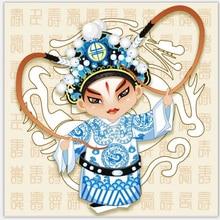 Peking Opera DIY Diamond Painting Peking Opera Portrait Diamond embroidery full round drama Character  Diamond painting Mosaic цена 2017