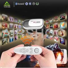 Original Google Cardboard VR BOX II 2.0 VR Virtual Reality 3D Glasses For Smartphone + White Bluetooth Gamepad to Watch The 100