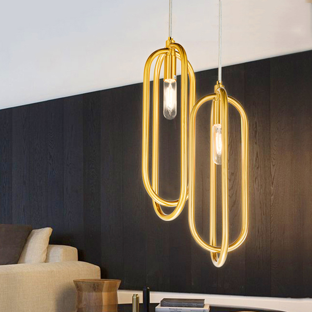 Post Modern Pendant Lights Club Hotel Restaurant Lighting Engineering Suspension Lamp Creative Personality Art Deco
