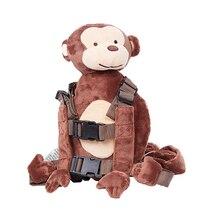 Детский рюкзак с ремнем безопасности для прогулок, рюкзак с защитой от потери, сумка для поводка, Сумка с мультипликационным принтом