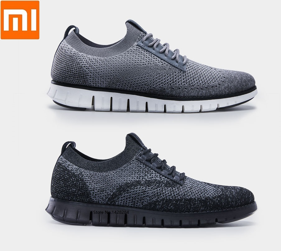 Xiaomi qimian men Cool soft bottom casual shoes light Antibacterial deodorant breathable upper Running sports Walking