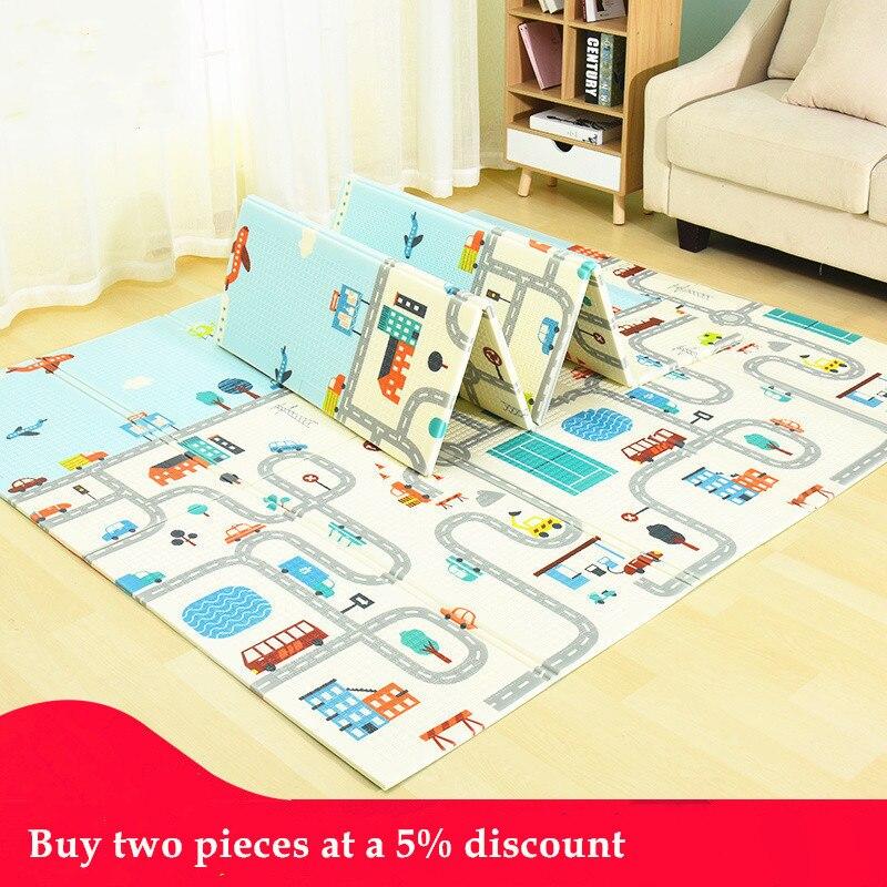 Tapis de jeu créatif pour bébé Xpe tapis de Puzzle tapis épaissi pour bébé tapis rampant tapis pliant tapis pour bébé cadeaux