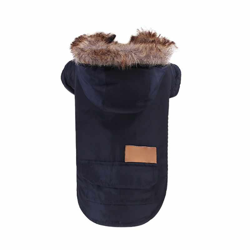 Anjing Peliharaan Kostum dengan Topi Musim Dingin Hangat Anjing Parka Pakaian untuk Anjing Kecil Mantel Chihuahua Yorkies Pakaian Ski Jaket Perlengkapan