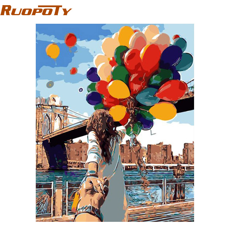 Buy ruopoty colorful balloon lover diy for Diy colorful wall art