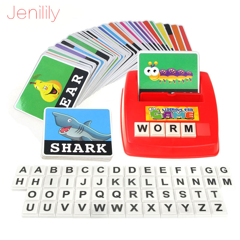 1 Set Pictures To Spell The Word Learning Baby Toy English Alphabet Card Games For Children English Games Kids Educational Toys