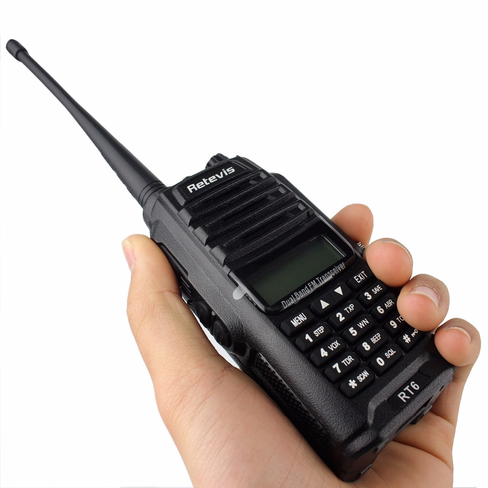 2st IP67 Vattentät Walkie Talkie Par Retevis RT6 5W 128CH VHF UHF FM - Walkie talkie - Foto 3