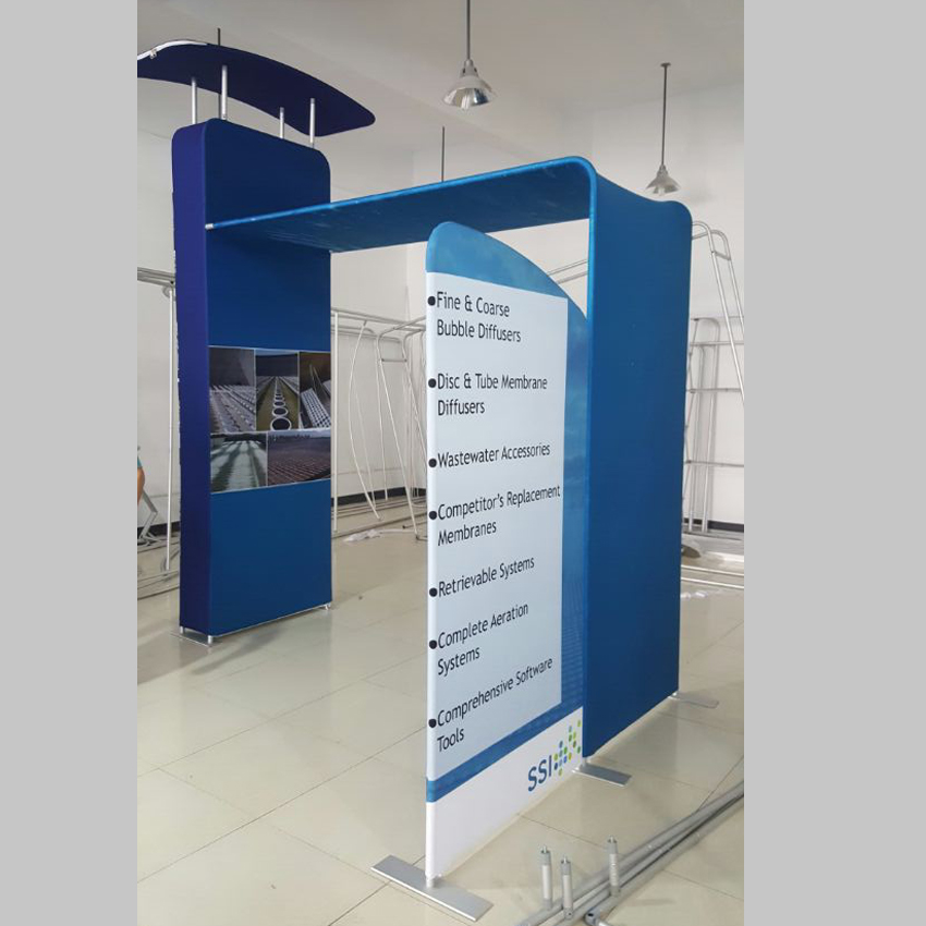 Fabric Exhibition Stand Lighting : Ft portable custom tension fabric trade show displays booth