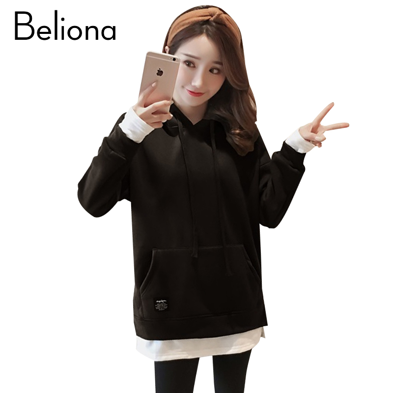 4 Colors Winter Warm Hoodies for Pregnant Women False Two Pieces Maternity Clothes Pregnancy Top Hoodie Women's Clothing