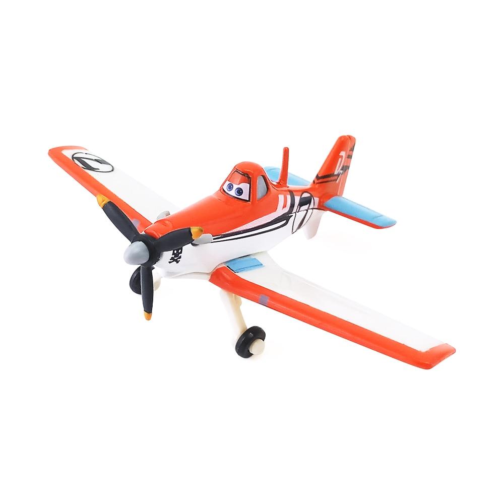 Disney Pixar Planes No.7 Dusty Crophopper Metal Diecast Toy Plane 1:55 Loose New In Stock &
