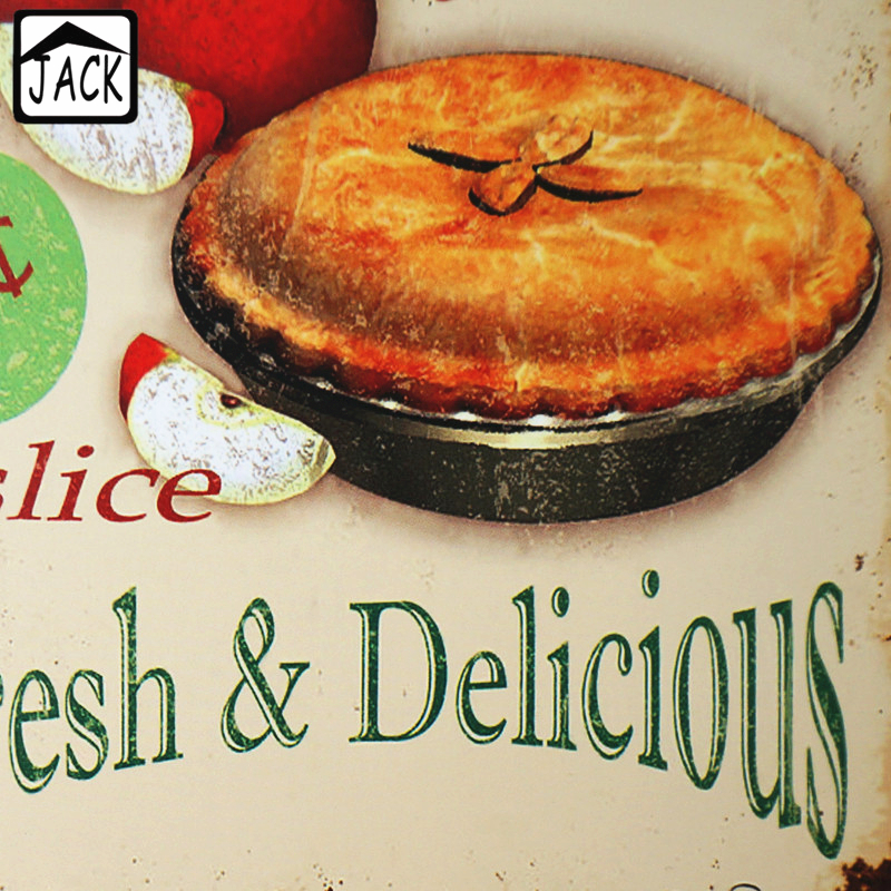 fresh delicious home made apple pie advertising vintage 2030cm metal tin sign supermarket restaurant kitchen wall plate decor in plaques signs from - Periodic Table Tin Apple