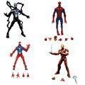 Lendas maravilha infinita série brinquedo pizza spiderman venom aranha escarlate iron man super hero action figure modelo brinquedos bonecas de presente