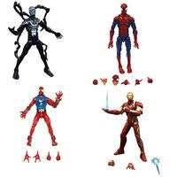 Marvel Legends Infinite Series Toy Pizza Spiderman Venom SCARLET SPIDER Iron MAN Super Hero Action Figure