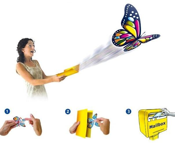 Mariposa mágica de papel para invitación de boda, tarjeta de - Para fiestas y celebraciones
