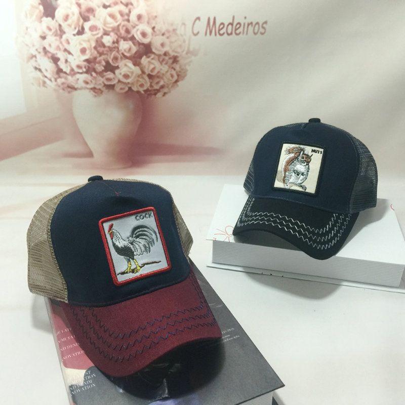Unisex de moda Animal parche bordado de malla de algodón gorra de ... 1a43caf9f8b