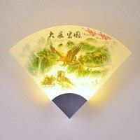 בסגנון סיני מודרני וול אור 110 v-220 v תאורה מקורה חדר שינה מנורת קיר בציר אופנה אמנות קיר רכוב מנורות ליד המיטה