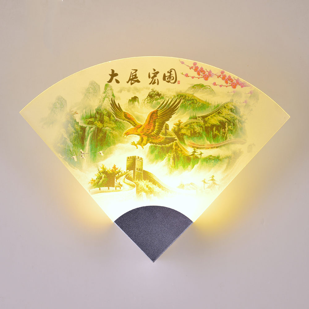 ФОТО Chinese Style Modern Wall Light 110v-220v Bedroom Indoor Lighting Vintage Wall Lamp Fashion Art Wall Mounted Bedside Lamps