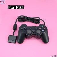 Юйси черный вибрации быстро Двухместный Shock проводной игровой ручка геймпад для Sony PS2