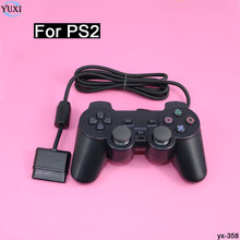 YuXi Black Vibration Fast Double Shock Wired Game Handle Controller GamePad For Sony PS2