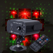 3 lens Voice Control Music Rhythm Flash Light LED Laser Projector Stage DJ Disco Light Club Dancing Party Stage Effect Lighting the latest 2lens 40 pattern laser light for dj disco club party stage lighting effect