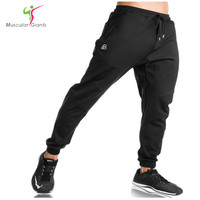 2017 New Sweatpants Men S Solid Workout Bodybuilding Clothing Casual GYMS Fitness Sweatpants Joggers Pants Skinny