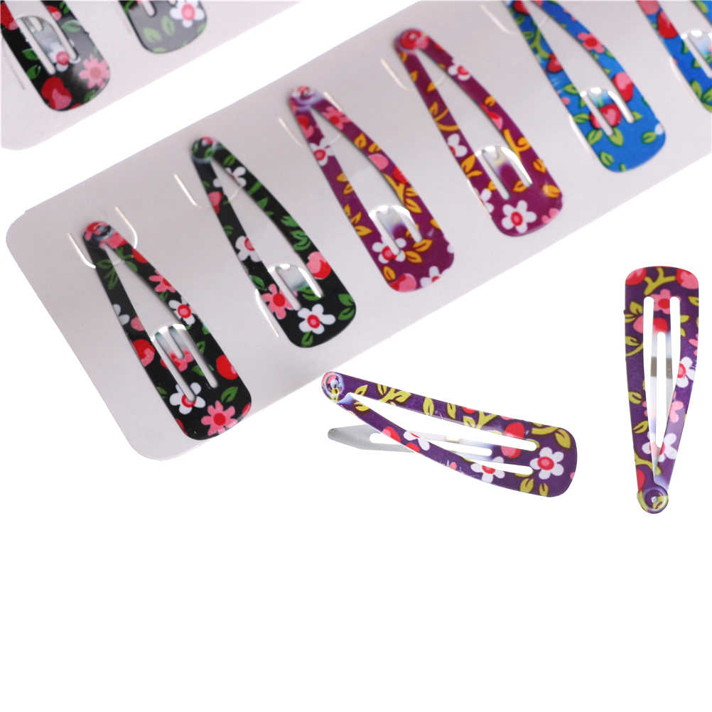 10pcs BB Clip Bow Barrette Children Hairclip Children Headband Flower Hairpin Floral Candy Jewelry Hair Accessories