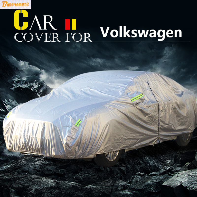 Buildreamen2 Car Cover Anti-UV Sun Shield Rain Snow Protector Cover Waterproof For VW Volkswagen EOS Routan Golf Touran Sharan