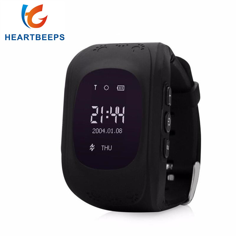 heartbeeps smart baby watch q50 Kid Wristwatch,GSM GPRS GPS Locator Tracker Anti-Lost Smartwatch Child Guard for iOS Android