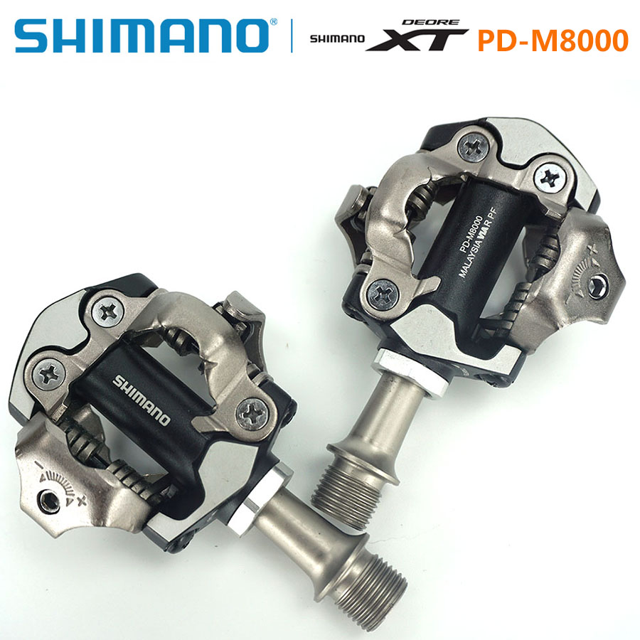 ᗚShimano DEORE XT PD-M8000 Pedal Self-Locking SPD Pedals