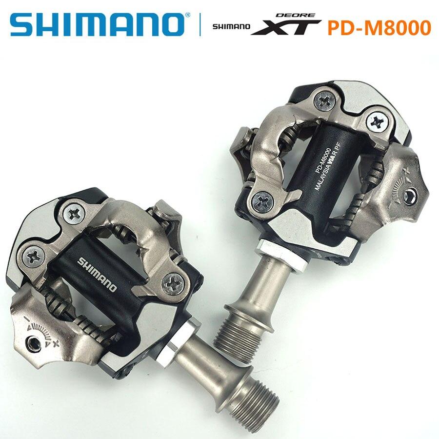 Shimano DEORE XT PD-M8000 pédales auto-bloquantes SPD composants vtt utilisant pour les pièces de VTT de course de vélo