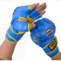Red Black Blue Dragon Gloves Hit Gants de sacs de sable Combat Box Takewondo Sanda Boxing Sandbag MMA Half Finger Fight Gloves