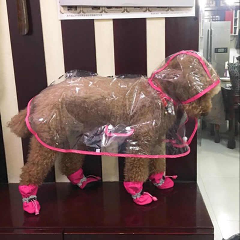 Cho thú cưng Chó Mèo Áo Mưa Thời Trang Thú Cưng NHỰA PVC Áo Mưa Chống Thấm Trong Suốt Con Chó Con Quần Áo Cho Chó Cỡ Nhỏ Áo Mưa có Hood Pháp Bulldog