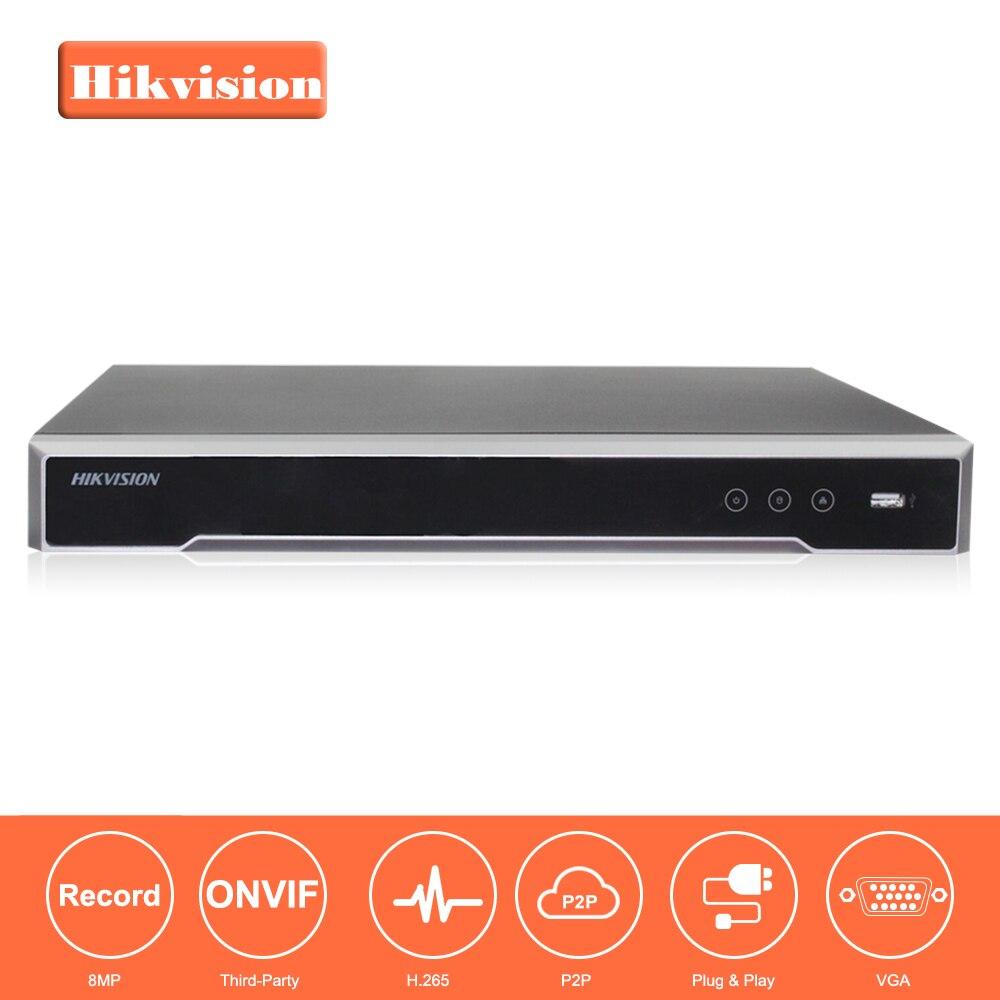 Hikvision 8/16 CH CCTV Système DS-7608NI-K2/8 P & DS-7616NI-K2/16 Prise Intégrée & Play 4 K NVR avec 2 Interfaces SATA 8 POE Port