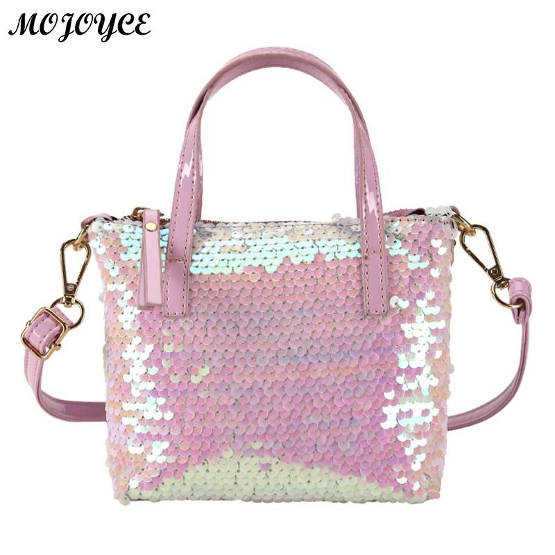 New Style Fashion Messenger Bag Shining Sequins Women Crossbody Bags Girls Zipper Shoulder Ladies Casual Party Handbags