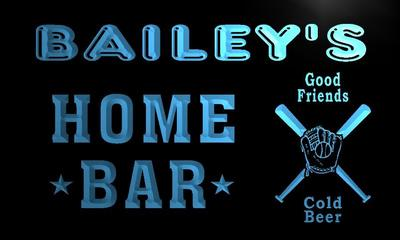 x1060-tm Baileys Home Bar Baseball Custom Personalized Name Neon Sign Wholesale Dropshipping On/Off Switch 7 Colors DHL