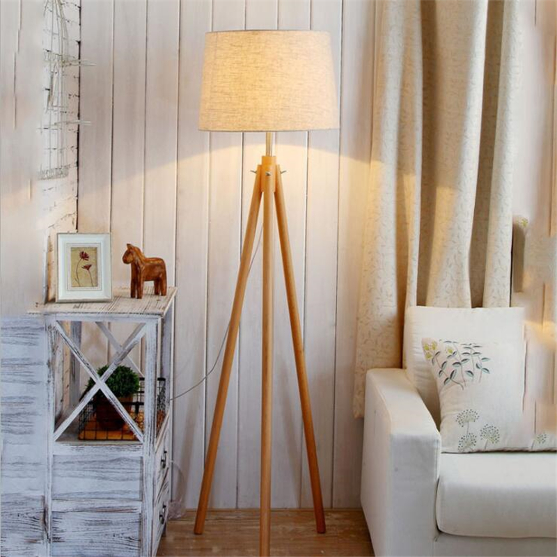 modern lamps for living room. Favric Cover Light lamp 9W Modern lamps With Remote Control Wooden  Materials for living room bedroom Nordic Creative Floor Lamps E27 Log Fabric Stand Living
