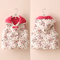 2016 winter female Little stars child children's clothing baby children plus velvet thickening cotton vest child vest outerwear
