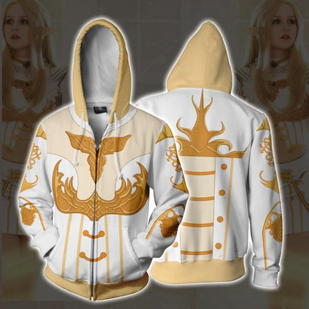 Elfin Men Women New Fashion 3D Hoodies Hooded Sweatshirts Full Zipper Jacket Coat Tops Xmas Plus Size S-5XL
