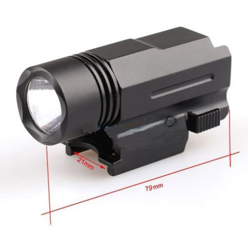 3 Modelo Brillante CREE LED QD Linterna Touch fit 20mm Riel Pistola Para Caza Pesca Envío Gratis