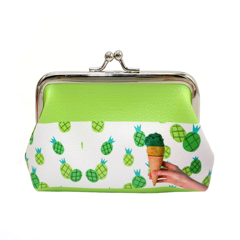Womens Purses Women Lady Fresh Ice-cream Fruit Pattern Small Wallet Hasp Purse Clutch Bag Coins cards Bags A8