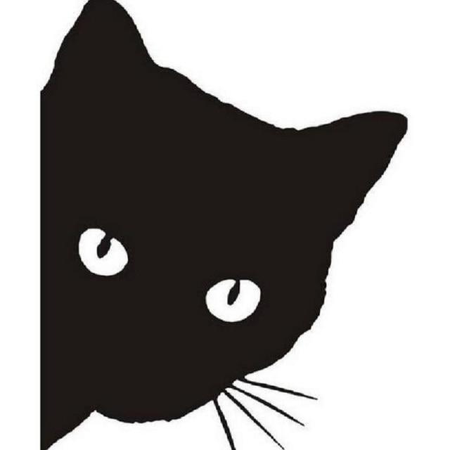 15 12 cm gato rosto olhando adesivos de carro decalques adesivo de