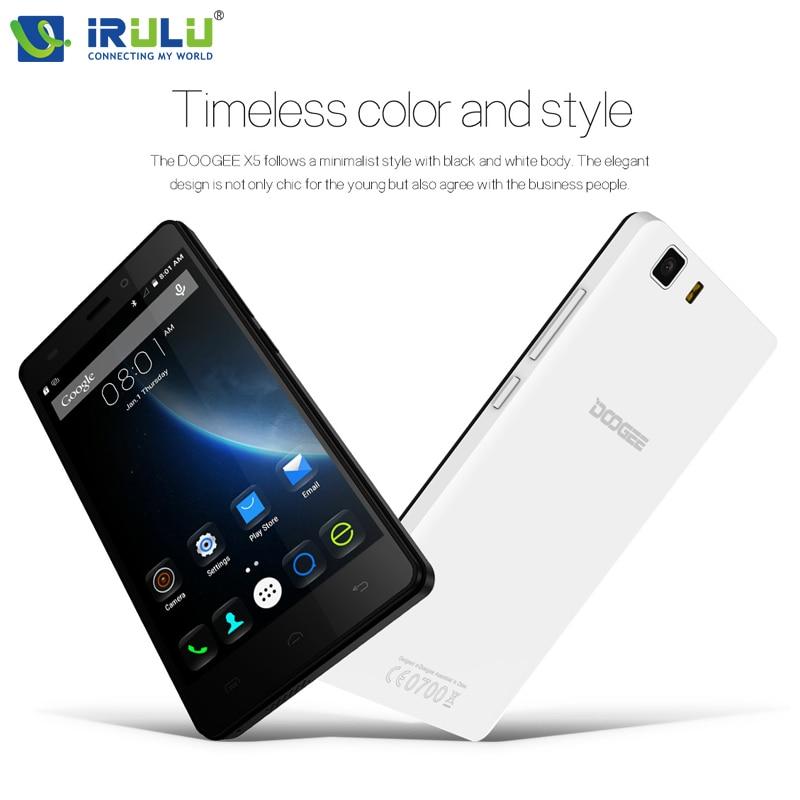 Цена за Original Doogee X5 Doogee X5 Pro 5.0 дюймовый HD Android 5.1 MTK6580 Quad Core Смартфон 3 Г Dual SIM 1 Г RAM 8 Г ROM 8.0MP + 5.0MP Горячей