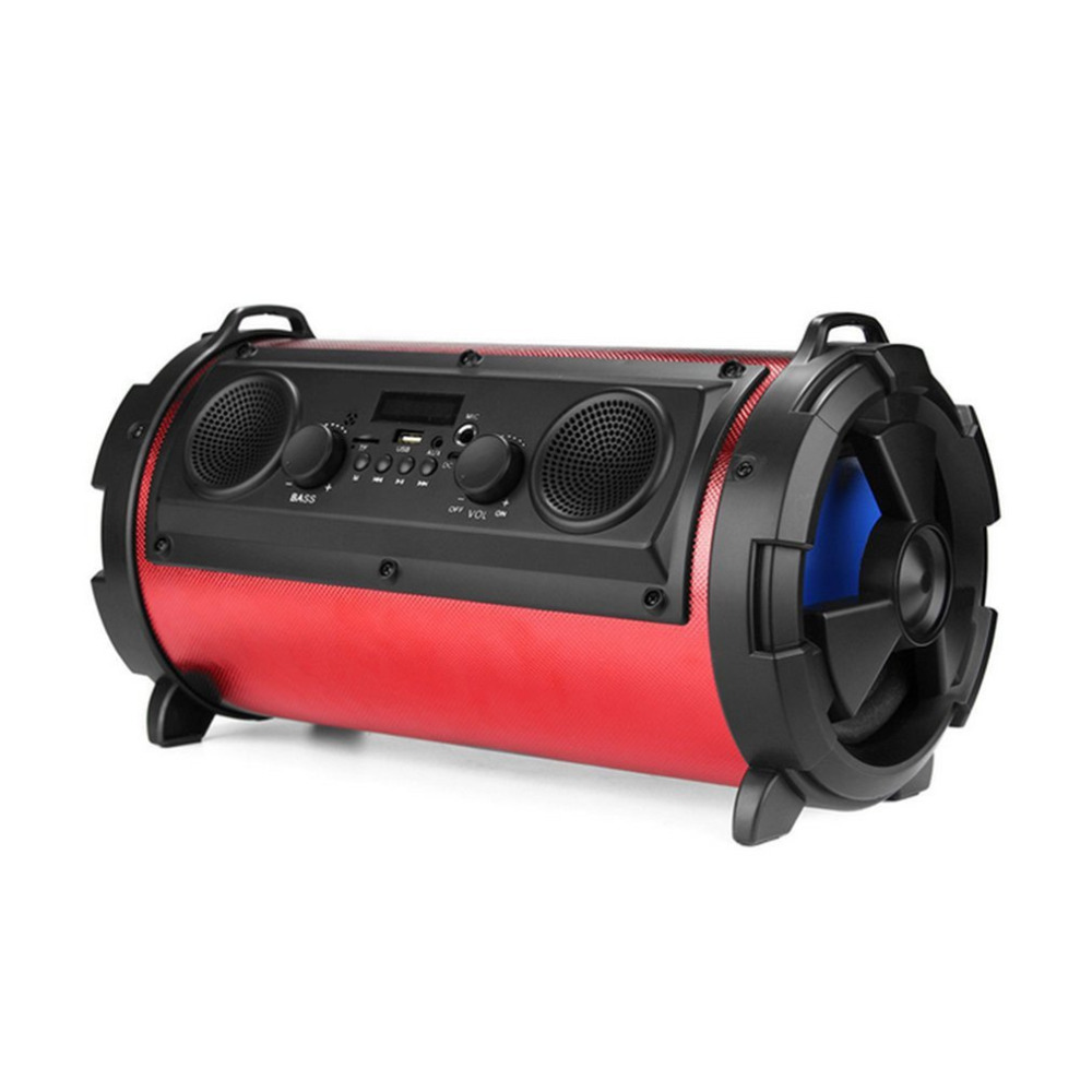 Outdoor Portable 15W Bluetooth Super Bass Multifunctional Wireless Speaker Subwoofer Stereo Soundbar AUX Support TF Card exrizu ms 136bt portable wireless bluetooth speakers 15w outdoor led light speaker subwoofer super bass music boombox tf radio