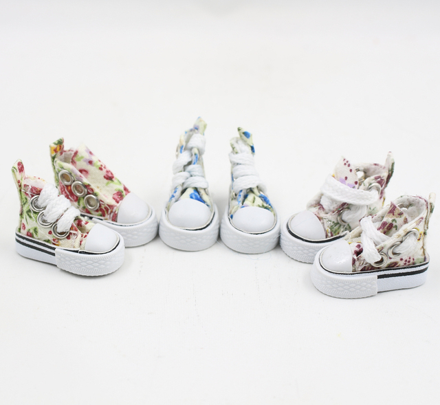 Floral Print Blythe Doll Shoes 3 Different Designs
