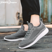 2018 New Fashion Woven Design Shoes Men Casual Patchwork Lace-up breathable sneakers for men zapatos hombre