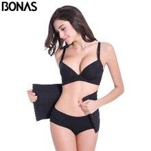 BONAS Solid Color Shaper Women Slimming Belt Corset Waist Trainer Cinchers Spandex Corrective Underwear Slim Shapewear Hot Body