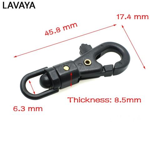 Promo 5pcs 1/4'' Plastic Swivel Snap Hook  For Weave Paracord Lanyard Buckles Backpack Webbing 6.3mm — stackexchange